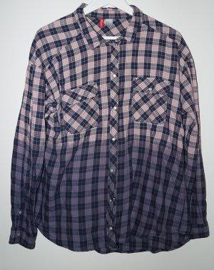 Ombre Bluse von H&M 42 Blau Rot