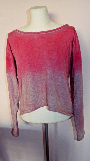 Ombré Cropped Pullover in Altorsa-Pink