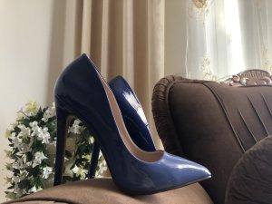 Tacco alto blu fiordaliso-blu acciaio