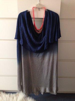Sheinside Jersey holgados gris-azul