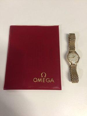 Omega Damen-Uhr mit Echtgold-Armband
