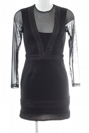 OML Langarmkleid schwarz-nude Streifenmuster Elegant