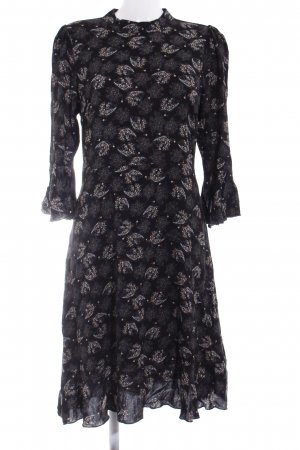 Once A-Linien Kleid schwarz Blumenmuster Elegant