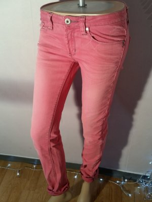 One green elephant Low Rise Jeans magenta