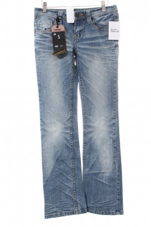 One green elephant Boot Cut Jeans blau Casual-Look