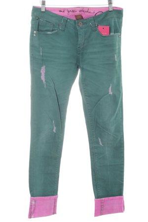 One green elephant Boyfriend jeans groen-neonroos casual uitstraling