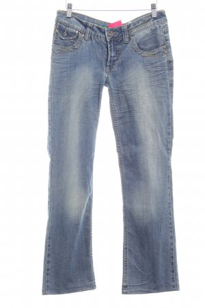 One green elephant Boyfriendjeans kornblumenblau Casual-Look