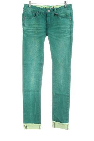 One green elephant Pantalone cinque tasche verde Colore sfumato stile jeans