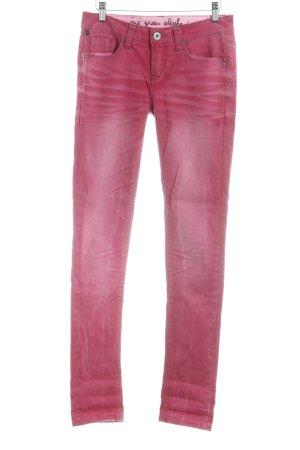 One green elephant Pantalone cinque tasche rosso neon Colore sfumato stile jeans