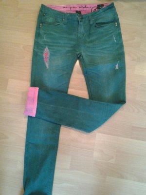 One Green Elephant Hose Kosai pink/grün Gr.40
