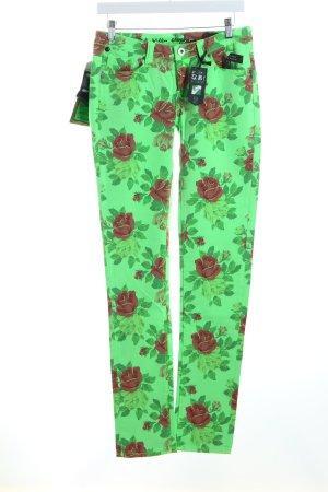 One green elephant Jeans Blumenmuster extravaganter Stil