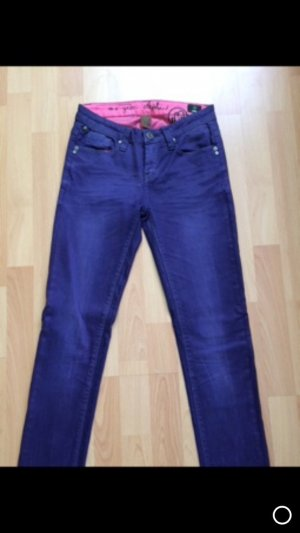 One green elephant Tube jeans roze-donkerpaars