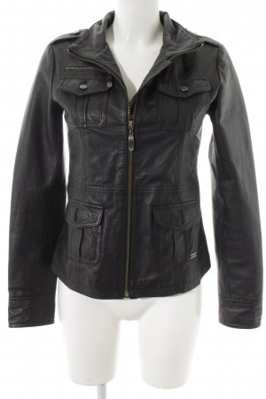 One green elephant Lederjacke schwarz Biker-Look
