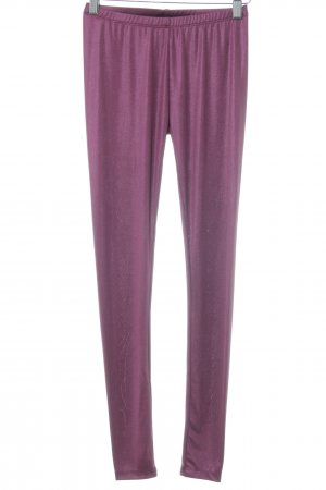 One green elephant Leggings violett Glanz-Optik
