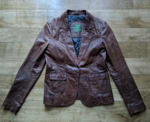One Green Elephant Retro Leder Blazer