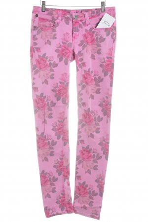 One green elephant Röhrenjeans pink Blumenmuster Casual-Look