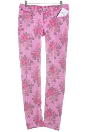 One green elephant Röhrenjeans pink Blumenmuster Casual-Look