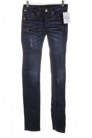One green elephant Skinny Jeans blau-dunkelviolett Farbverlauf Casual-Look