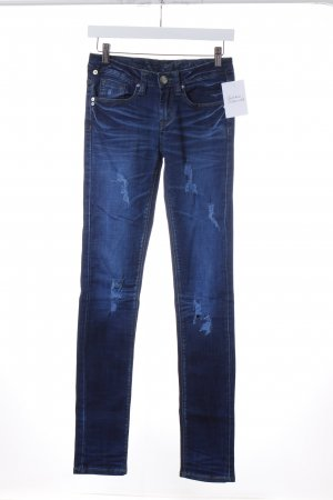 One green elephant Skinny Jeans dunkelblau Destroy-Optik