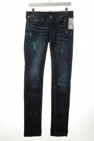 One green elephant Skinny Jeans dunkelblau-türkis Casual-Look