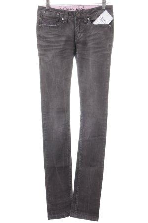 One green elephant Skinny Jeans dunkelgrau-rosa Street-Fashion-Look