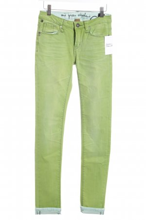 One green elephant Skinny Jeans grün Casual-Look