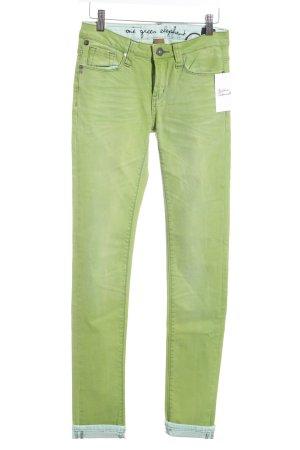 One green elephant Skinny Jeans grün Casual-Look