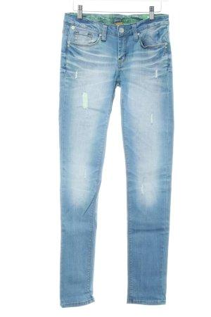 One green elephant Skinny Jeans kornblumenblau-hellgrün Jeans-Optik