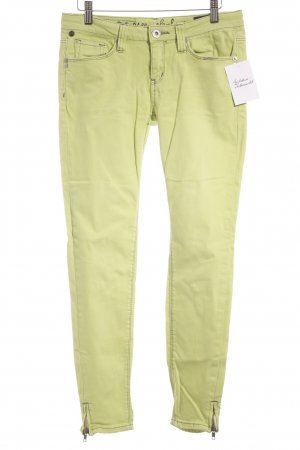 One green elephant Skinny Jeans neongrün Logo-Applikation