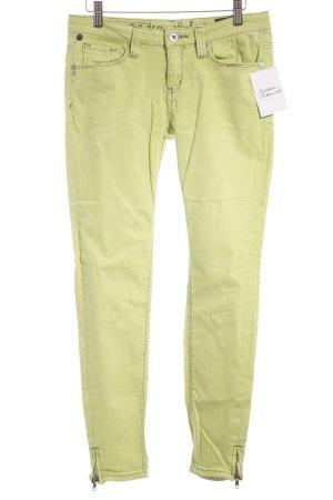 One green elephant Skinny Jeans neongrün Logo-Applikation
