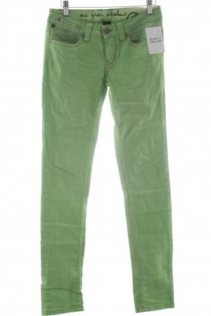 One green elephant Slim Jeans blassgrün-grün Casual-Look