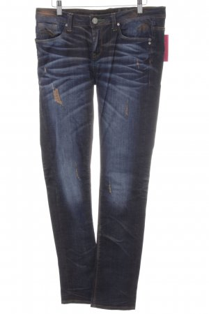 One green elephant Slim Jeans dunkelblau-apricot Farbverlauf Casual-Look