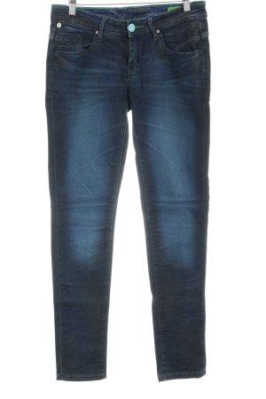 One green elephant Slim Jeans dunkelblau-stahlblau Farbverlauf Used-Optik