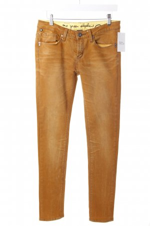 One Green Elephant Slim Jeans dunkelorange