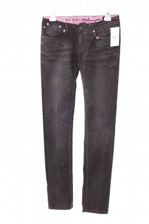 One Green Elephant Slim Jeans grau-rosa