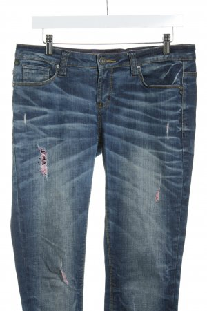 One green elephant Slim Jeans mehrfarbig Used-Optik