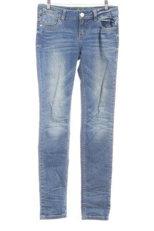 One green elephant Straight-Leg Jeans blau Washed-Optik