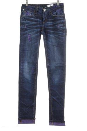 One green elephant Straight-Leg Jeans dunkelblau-lila Used-Optik