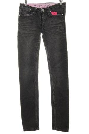 One green elephant Straight-Leg Jeans dunkelgrau Farbverlauf Casual-Look