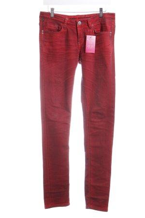 One green elephant Stretch jeans rood-zwart extravagante stijl