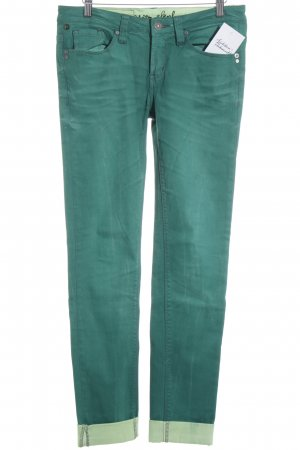 One green elephant Stretchhose waldgrün-blassgrün Casual-Look