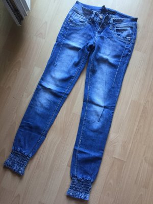 Jeans taille basse multicolore