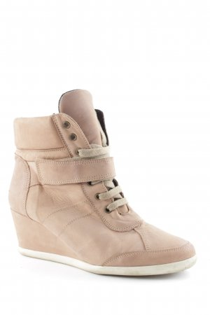 One of a kind Keil-Stiefeletten altrosa Casual-Look