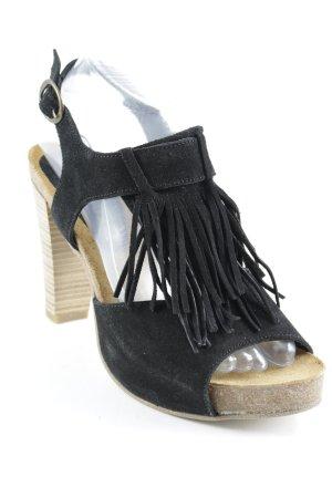 One of a kind Sandalo con cinturino e tacco alto nero stile casual