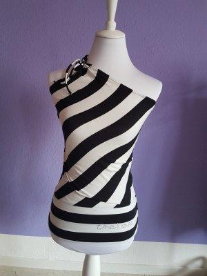 Colloseum Haut avec une épaule dénudée blanc-noir