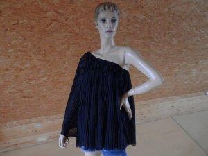 One Sholder Tunika Trompetenarm Bluse Carmen Dress Blogger Moss BoHo Style