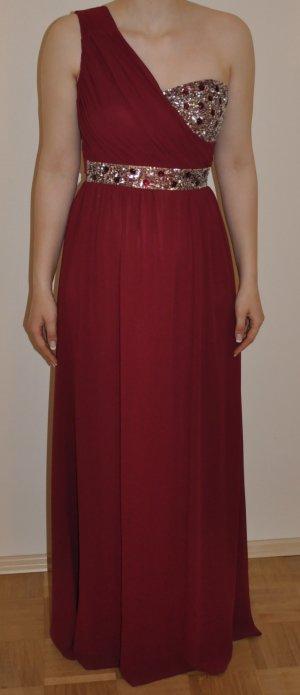 One-Shoulder bodenlanges Kleid mit Pailletten