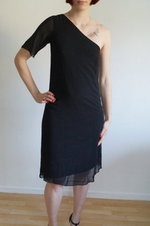 One Shoulder Dress schwarz asymmetrisch
