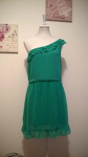 Amisu One Shoulder Dress turquoise
