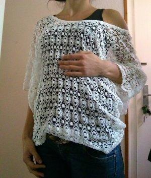Top en maille crochet multicolore coton